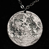 "Silver Supermoon Necklace - Large 1.5"" Pendant on 30"" Chain"