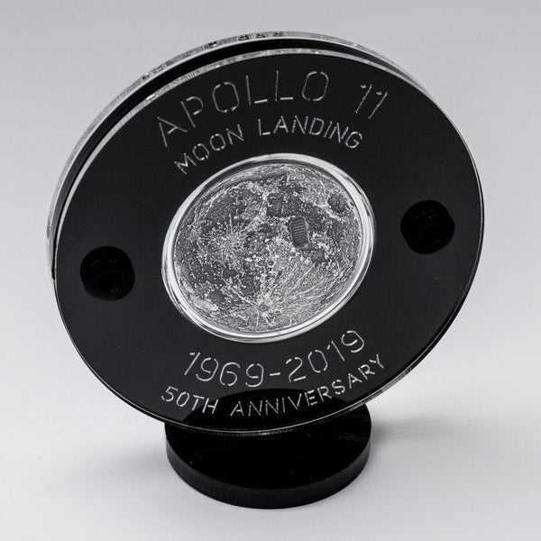Moon Landing Silver Coin with Boot Print - Apollo 11 - 50th Anniversary 1969-2019