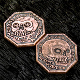 Memento Mori / Memento Vivere Reminder Coin in solid copper by Shire Post Mint