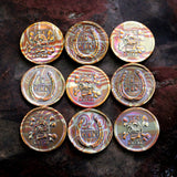 I Win / You Lose Coin Toss Decision Maker in mokume-gane layered metal - coin by Shire Post Mint
