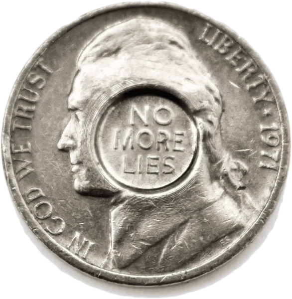 NO MORE LIES / FREE PRESS -  Bulk Novelty Token