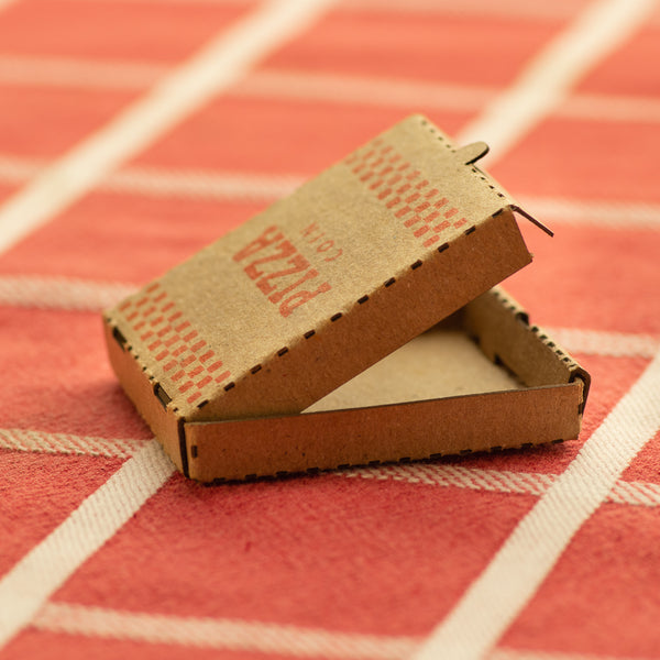 Tiny Pizza Box for Pizza Coins - Miniature Mini Laser Cut Collectible Cardboard Box - Shire Post Mint