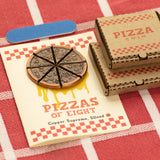 Pizzas of Eight Breakable Supreme Pizza Coin with two Tiny Pizza Boxes and Funny Packaging | Shire Post Mint