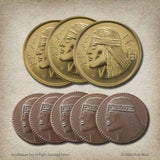 Aquilonian Set of Eight Gaming Coins