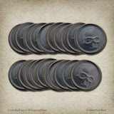 Crom Skull Set of 20 Gaming Coins
