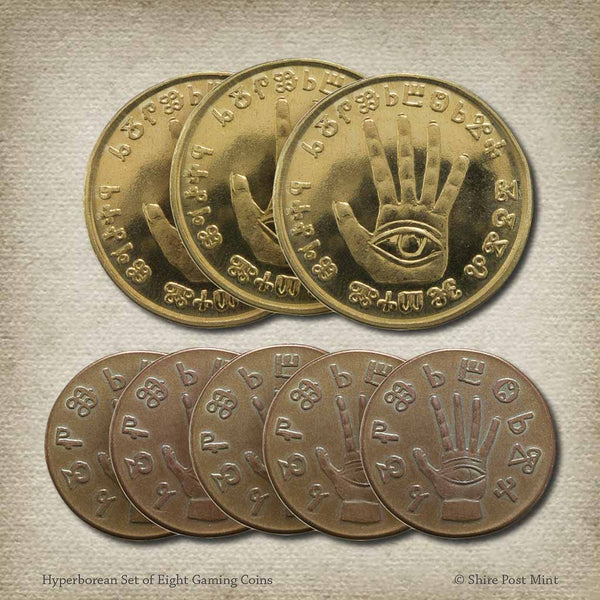 Hyperborean Set of Eight Gaming Coins