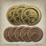 Turanian Set of Eight Gaming Coins