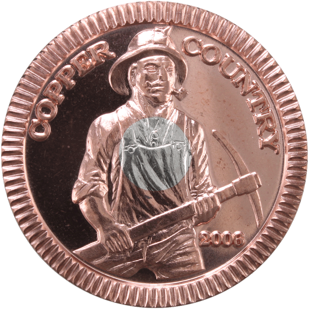Copper Country Bi-Metal Bullion - Bullion, Shire Post Mint,