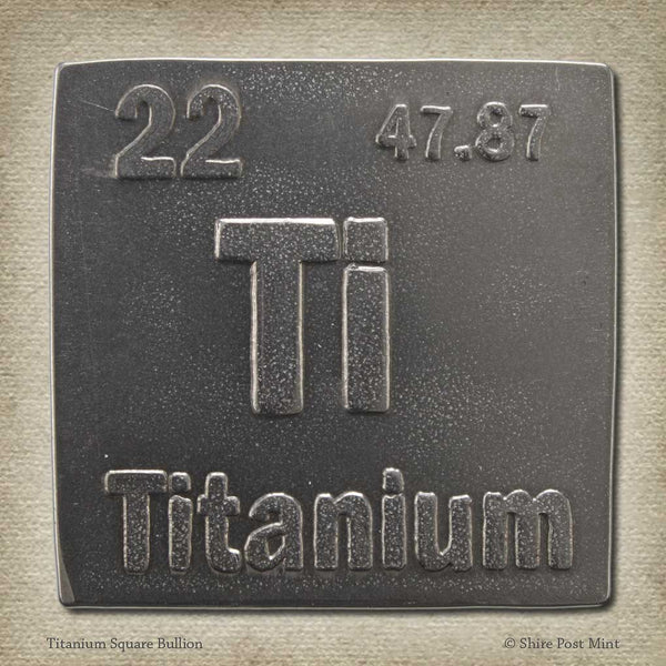 Titanium Square Bullion