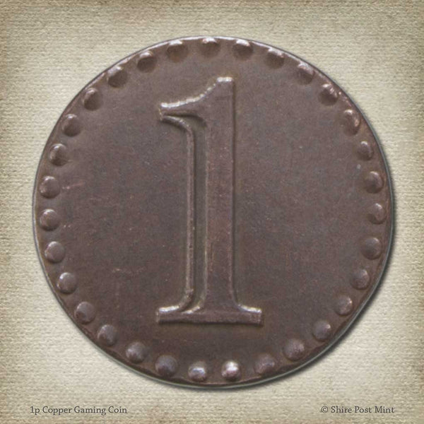 1p Copper Gaming Coin