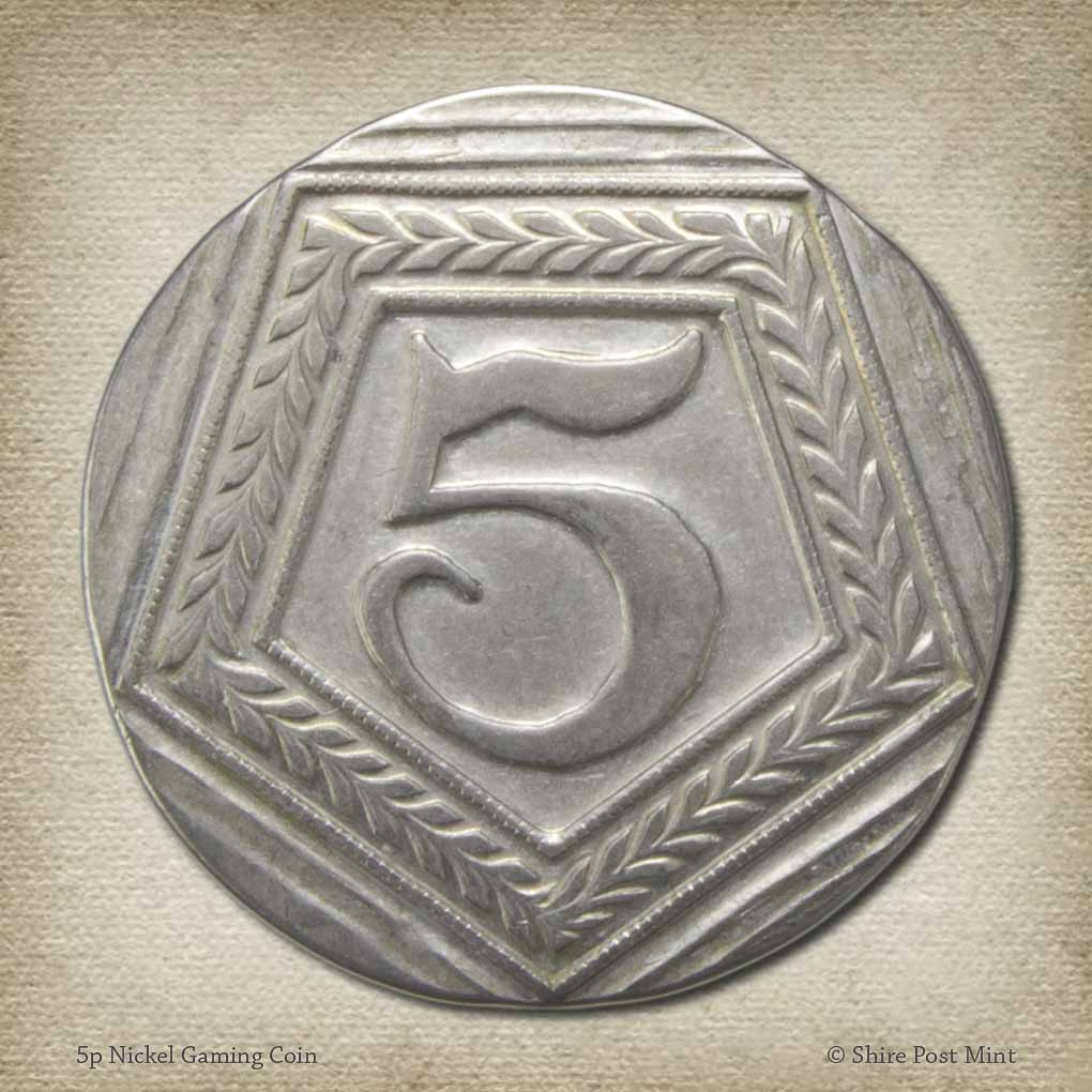 5p Nickel Gaming Coin