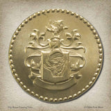 50p Brass Gaming Coin