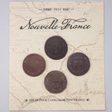 New France Set of Four Coins