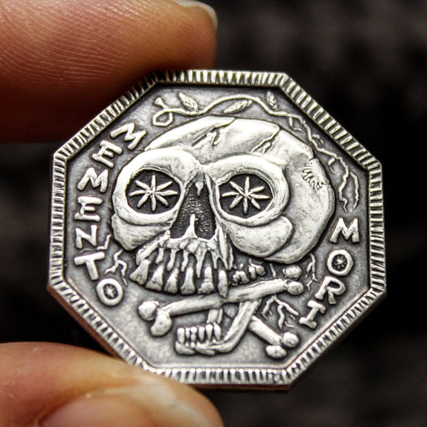 Memento Mori / Memento Vivere Reminder Coin in solid 999 silver by Shire Post Mint