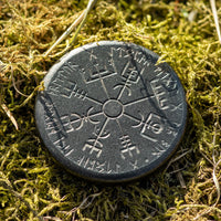 Norse Dual Stave in Iron, Vegvisir and Helm of Awe
