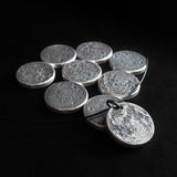 Extra Chunky Full Moon Coin in 999 silver by Shire Post Mint