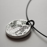 Extra Chunky Full Moon Coin Necklace in 999 silver by Shire Post Mint