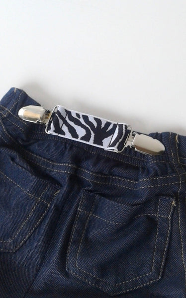 Zebra ELASTIC CLIP BELT - Kids Clip Belt - Toddler Belt - Childrens Belt for Pant