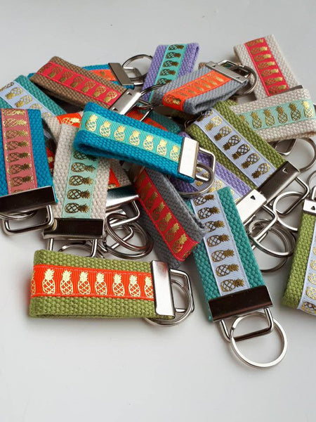 25 KEY FOBS Bulk- Wristlet Keychain Holder- Womens Key Ring- Wrist Key Fob- Womens Gift for Her- Gift Under 10