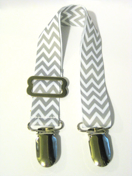 Grey Chevron Adjustable NURSING COVER CLIP - Breastfeeding Cover Clip- New Mom Gift