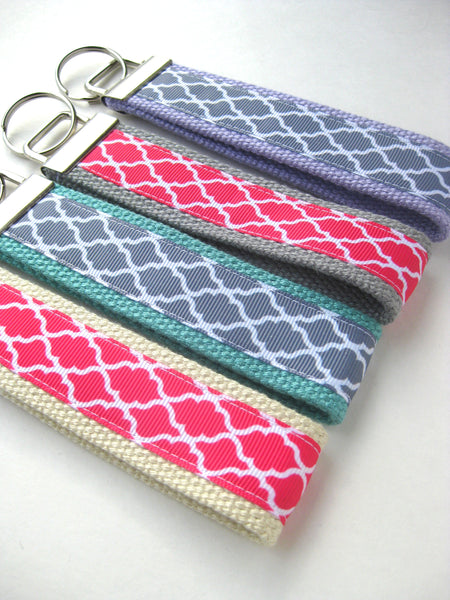 Wrist Keychain for Her- Womens KEY FOB Wristlet- Your Choice Key Lanyard- Wristlet Key Chain- Key Ring- Womens Gift Under 10- Gift for Her