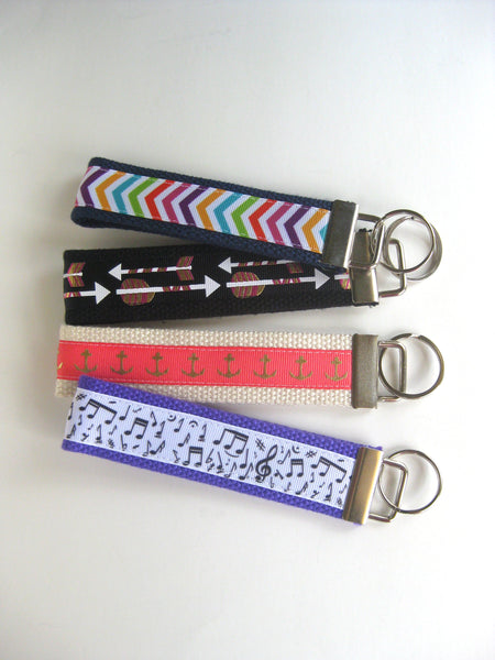 3 Wristlet Keychains- Womens Gift Under 10- Womens KEY FOB- Best Friend Gift