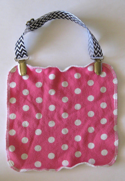 Red & White Chevron Adjustable NURSING COVER CLIP - Breastfeeding Cover Clip- Bib Clip or Stroller Clip