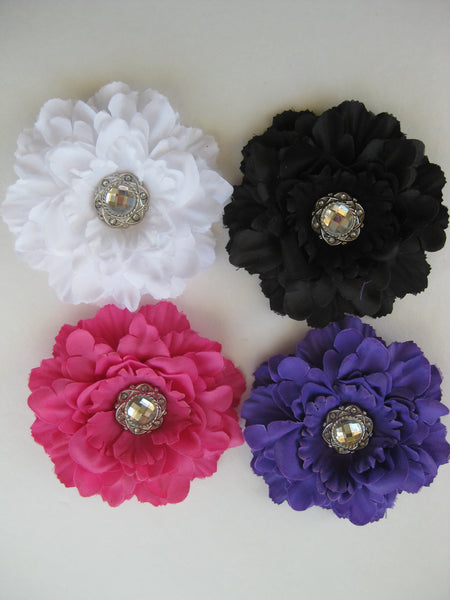 Peony Flower Hair Clip for Girls- Toddler Girl Hair Clip- Sparkly Clip for Hair- Flower Clip for Girls Hair
