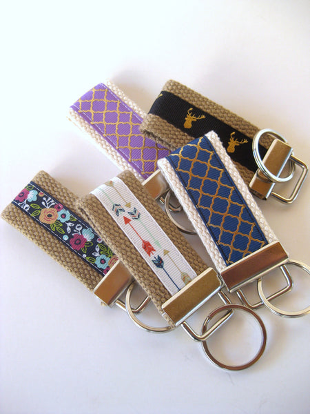 Wholesale 6 KEY FOB Wristlet- Wrist Keychain- Womens Key Ring- WRIST Key Chain- Womens Gift Under 10