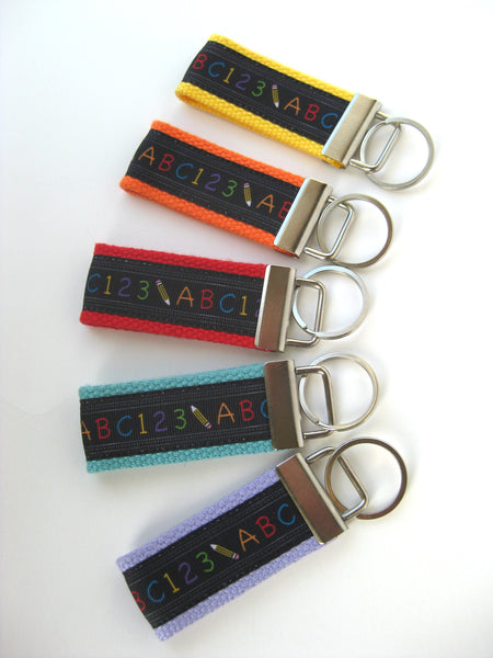 Teacher Gift Under 10 - Teacher Key Fob Wrist Keychain - Teacher Key Chain
