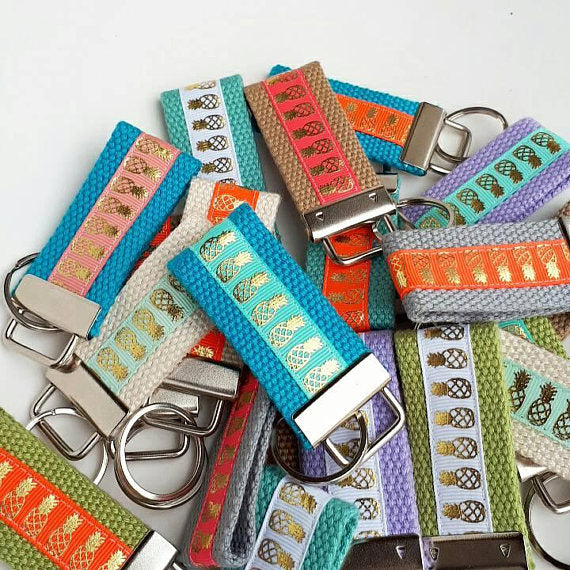 Gifts for Coworkers - 10 Mini KEY FOB - Coworker Gift Under 10 - Womens Gift for Her - Bulk Holiday Gift