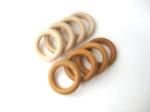 20 WOOD TEETHING RINGS Wholesale- Wood Teether- Natural Teether Wood Ring- Organic Baby Teether
