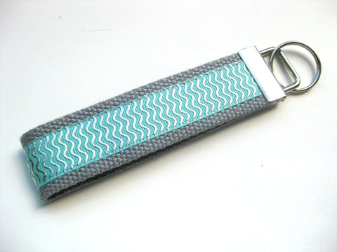 Mint Silver Wristlet Key Fob for Women- Key Chain for Her- Womens KEY FOB