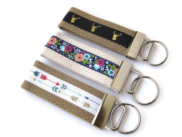 Floral Wristlet Key Fob for Women- Arrow Key Chain- Antler KEY FOB