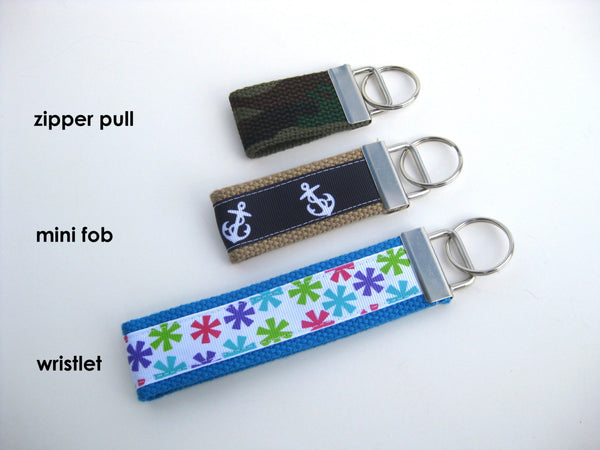 Mini KEY FOB for Kids - Backpack Zipper Pull Key Fob - Kids Keychain