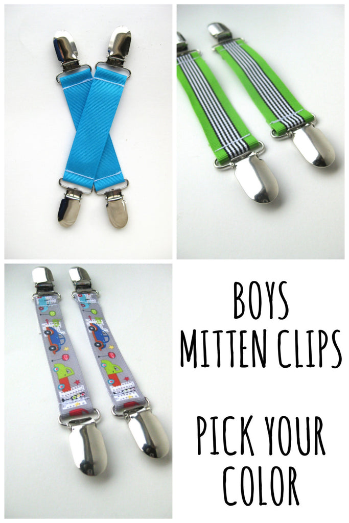 MITTEN CLIPS for Children- Mitt Clips for Kids- Gift For Kids- Toddler Mitten Clips- Glove Clips for Kids- Sleeve Clip- Mitt String