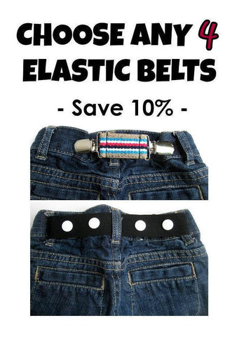 Toddler Belt for Boys and Girls- Elastic Snap Belt for Kids- Kids Belt- Baby Belt
