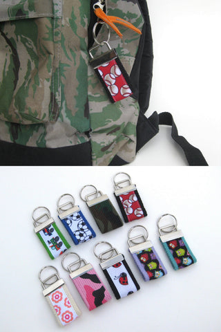 Mini KEY FOB for Kids- Backpack Zipper Pull Key Fob- Kids Keychain