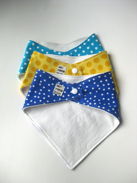 Baby Boy Bib- Baby Drool Bib Set- Baby Bib Gift Set- Girl Bib Set- Polka Dot Bib- Baby Shower Gift- Easter Gift for Baby- Baby Bib Boy