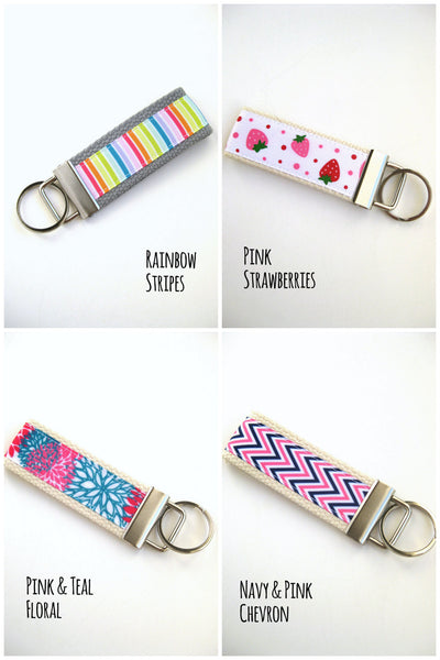 Girls Keychain- Girls Key Chain- Cute Kids Keychain Holder- Kids Key Ring- Key Lanyard- Girls Wristlet Key Fob- Kids Gift for Her Under 10