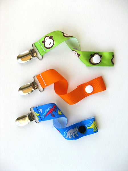 Baby Boy PACIFIER CLIP - Baby Shower Gift Idea - Boy Soother String