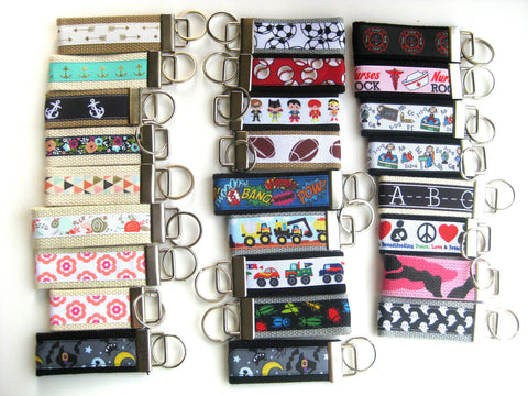 10 Mini KEY FOB - Employee Thank You Gift - Womens Keychain Holder - Womens Gift for Her