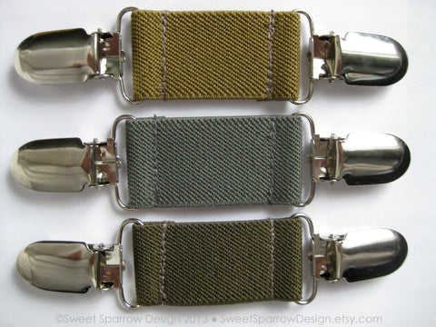 Elastic CLIP BELT Pants Helper- Khaki Toddler Belt- Children Belt Pant Cinch- Baby Belt Cinch Clip- Waistband Tightener