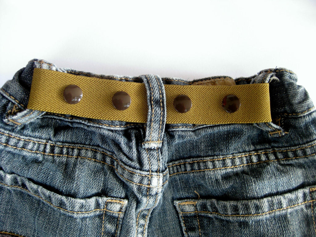 Toddler Boy Belt- ELASTIC SNAP BELT- Children's Belt- Neutral Khaki Olive Green Baby Belt- Waistband Cinch Belt- Kids Belt- Adjustable Belt
