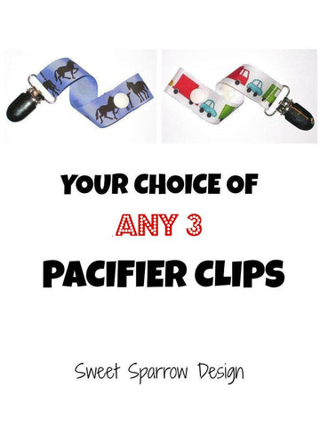 PACIFIER CLIP Holder- Dummy Clip- Pacifier Clip Set- Universal Paci Clip- Soother Clip- Soothie String- Baby Shower Gift- Toy Clip