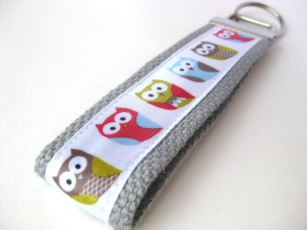 Owl Wristlet Keychain for Women- Owl KEY FOB- Wrist Key Fob- WRIST Key Chain- Womens Key Ring- Owl Key Lanyard-Womens Gift for Her Under 10