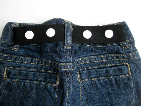 Black Toddler Belt- Kids Belt- Baby Belt- Adjustable Childrens Belt- ELASTIC SNAP BELT