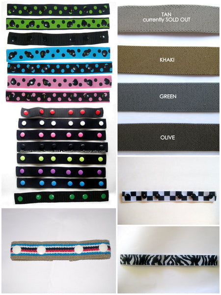 Black Toddler Belt- Kids Belt- Baby Belt- Adjustable Childrens Belt- ELASTIC SNAP BELT- Choose Your Snap Color- Waist Cinch- Pant Cincher