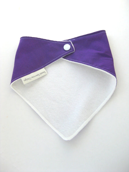 Baby Girl Bandana Bib- Purple Bandana Bib- Purple Baby Bib for Girl- Baby Girl Gift Ideas- Girl Drool Bib- Baby Girl Bib- Girl Scarf Bib