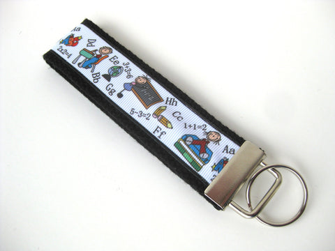 Teacher Gift Under 10- Wristlet Key Fob- Math Teacher KEY FOB